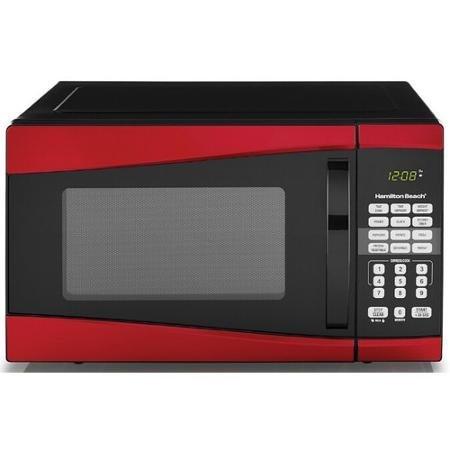 Hamilton Beach 0 9 Cu Ft 900w Microwave Red Mini